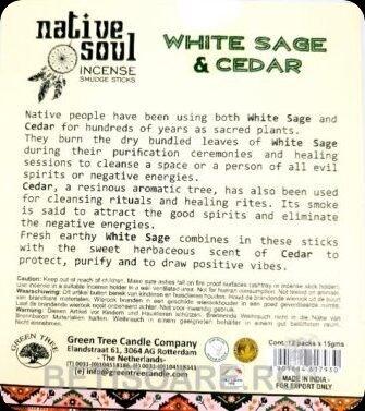 Bețișoare Salvie albă/ Cedru